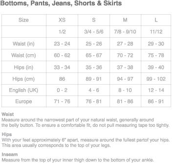 Forever 21 jean size chart boutique dresses