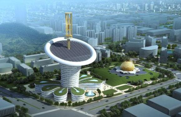 زهرة الطاقة في الصين زهرة معمارية