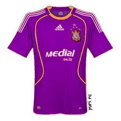 Esta camisa seria camisa roxa do Corinthians e cairia muito bem com o  numero nove do Ronaldo Fenomeno 36cfe1c4c7d42