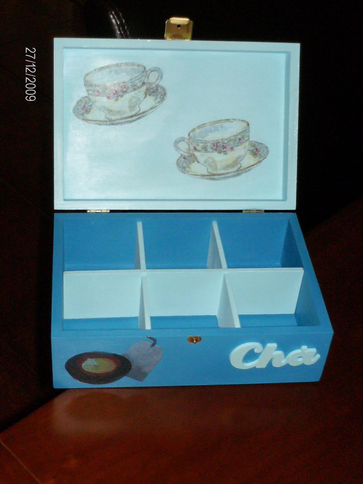 Caixa ref: 1.6cxch Caixa de chá em madeira com 6 divisões pintada  #1E0A05 1200x1600