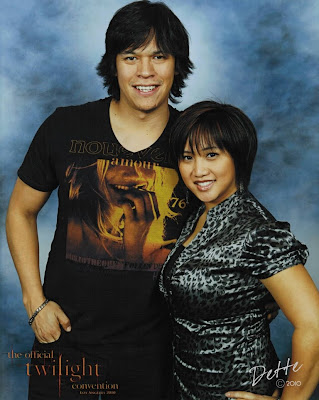 Dette and Chaske Spencer, 2010 Los Angeles Twilight Convention