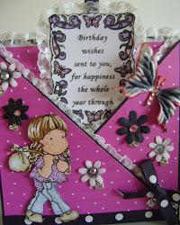 magnolia tilda ,birthday envelope card,