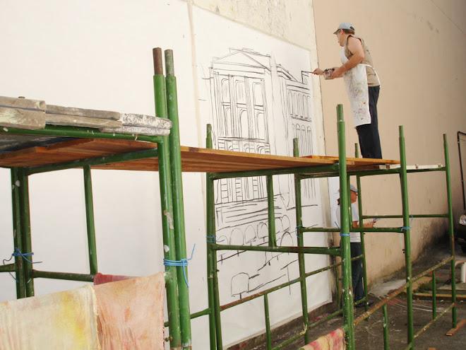 Painel para o metro Alto do Ipiranga em parceria com a artista plastica Ilka Lemos 2007