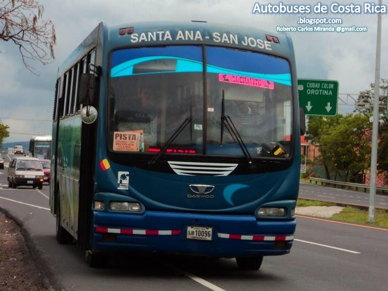 Autobuses de Costa Rica: Santa Ana - San José