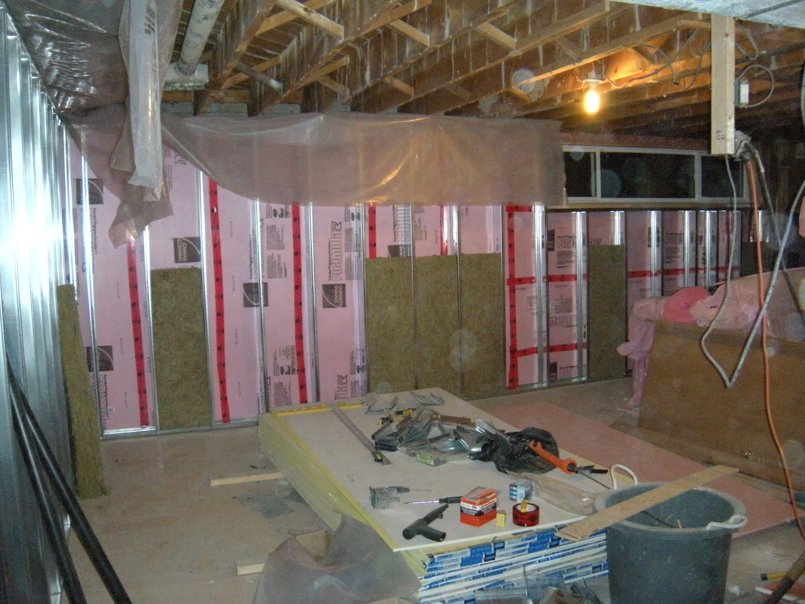 below the before clean up during insulating and now