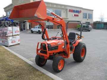 Tracteur pelle mecanique en