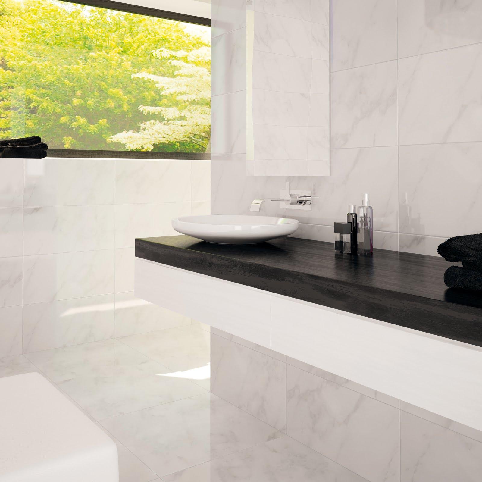 Eskema un ba o con calacatta for Con que se limpia el marmol
