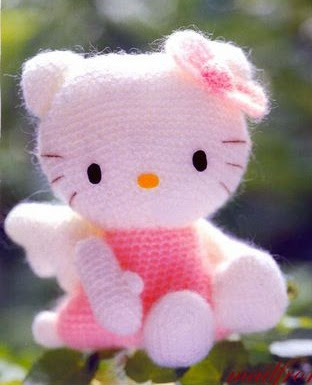 CROCHET AMIGURUMI HELLO KITTY PATTERN Crochet Patterns Only