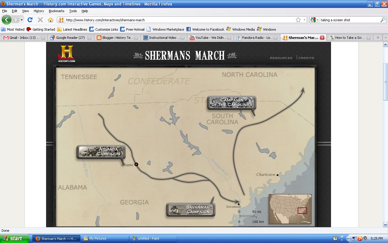 shermans march In conjunction with general grant's siege of petersburg, major general william tecumseh sherman's march to the sea, or the savannah campaign, signals the death knell of the confederacy.