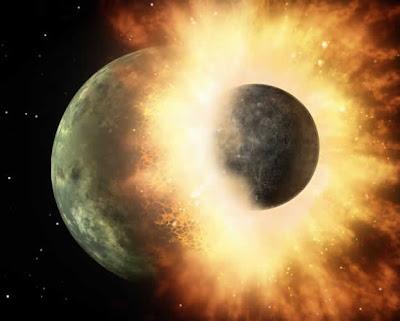Colisão entre planetas