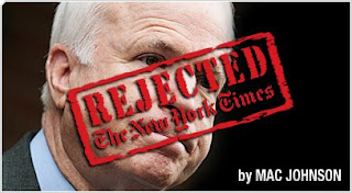 NY Times Rejection Letter to John McCain