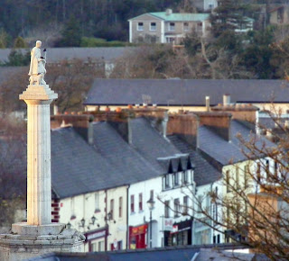 The statue of St Patrick watches over Westport in Ireland