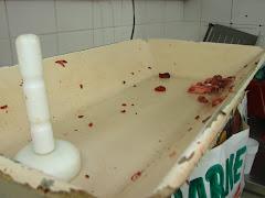 Fiscalização em pastelaria. Eca!!!!!    Foi interditada.