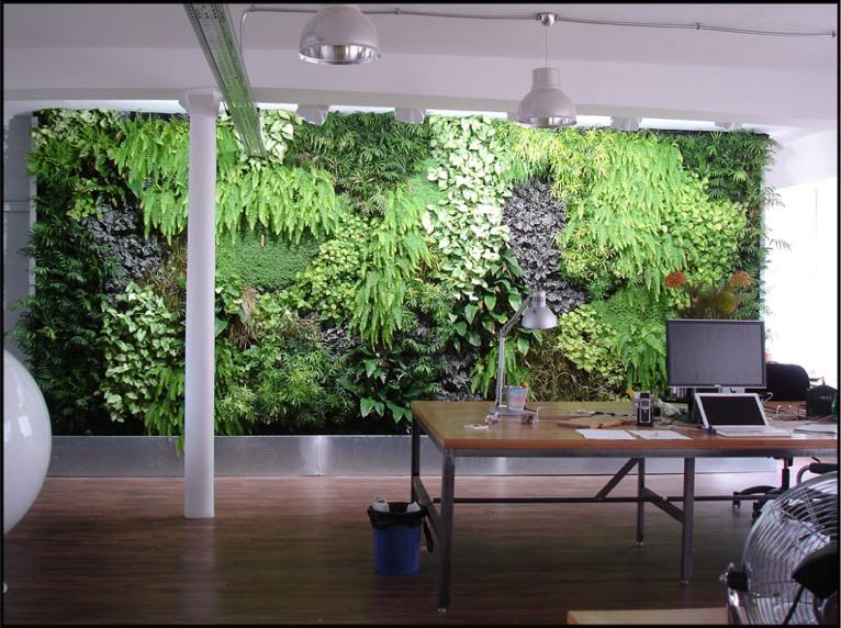 Les jardins du monde: Les murs végétaux d\'intérieur