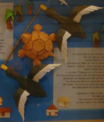 Tortue et Canard origami