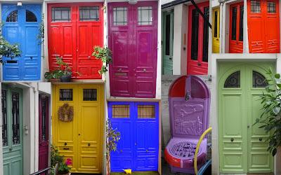 Portes en couleur