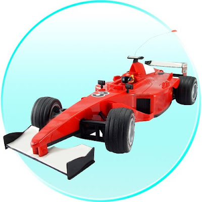 Formula one race car with
