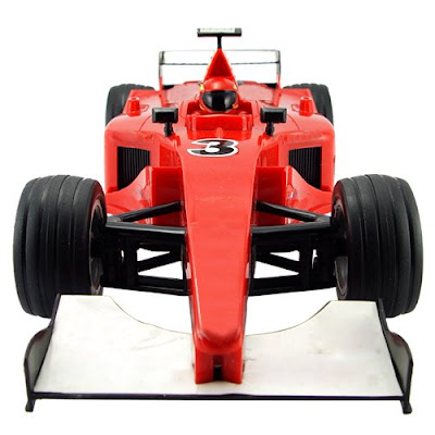 The formula one RC car is