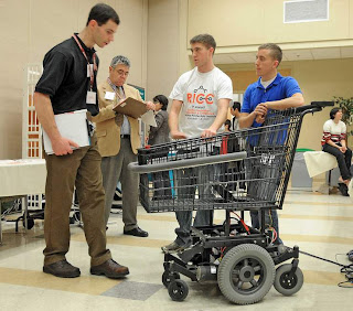 Classroom Robotics Students Design Robotic Shopping Cart