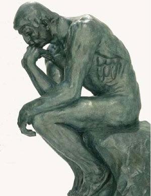 Estatua del pensador de Rodin