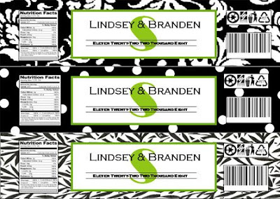 Free printable damask patterns advice project wedding for Free water bottle label template