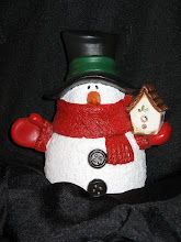 Snowman with Birdhouse