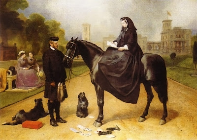Queen Victoria with Sharp and John Brown