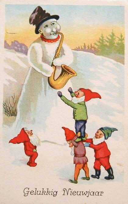 postcardiva postcard blog: NEW YEAR Elves & Gnomes on ...