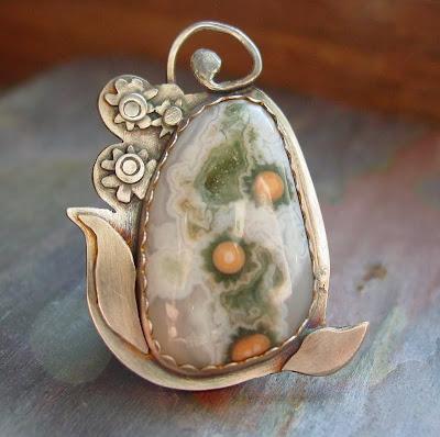 ocean jasper pendant sterling