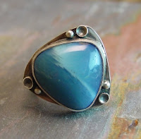 swedish blue slag ring sterling