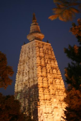 The temple at night