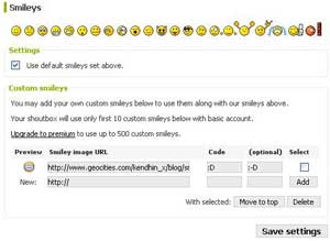 Add Emoticons To Your Shoutbox (Shoutmix)