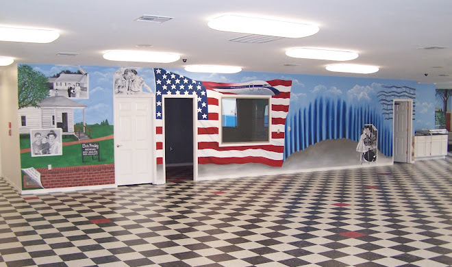 Elvis mural for Jackson Hewitt Office