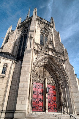 Awesome Spots for Sassy Posing :  wedding pittsburgh venue Heinz+chapel+exterior
