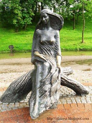 русалка, скульптура, Городничанка, Гродно