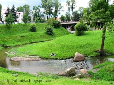 швейцарская долина в Гродно, мост, ландшафт