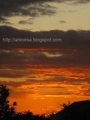 закат, оранжевое небо