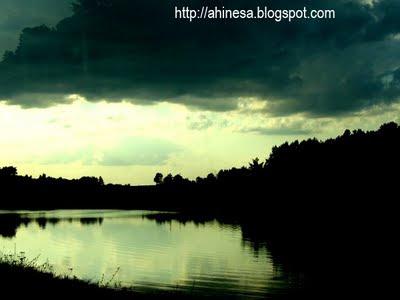 озеро, вода, природа, пруд, тучи