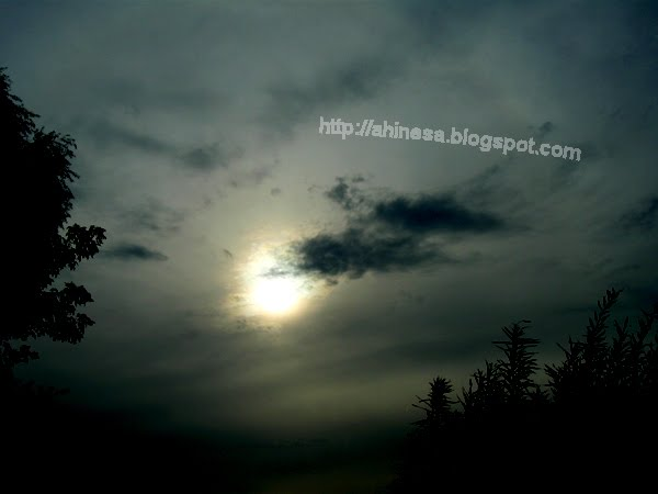 закат, небо