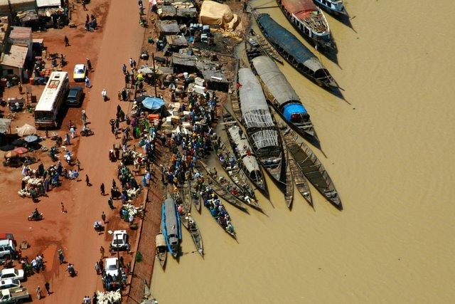 Vista aérea  del embarcadero