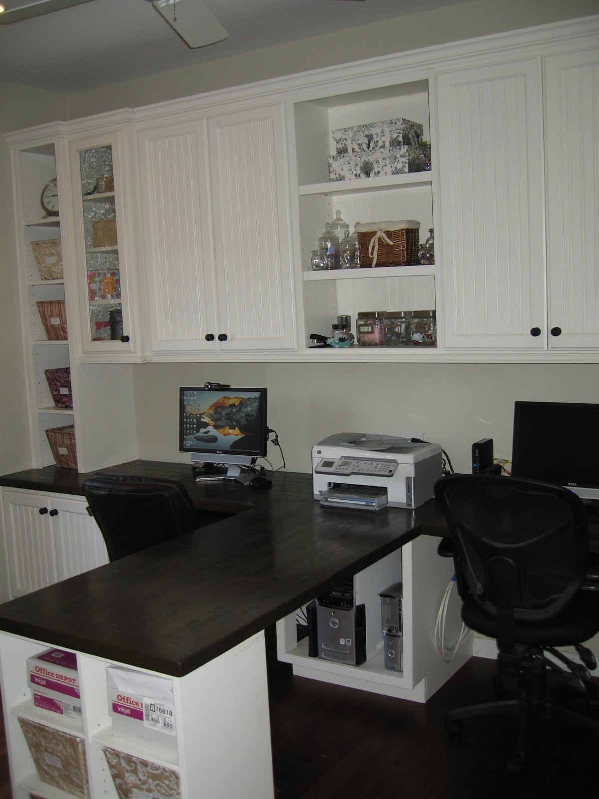 Remodelaholic Beautiful Custom Built In Home Office