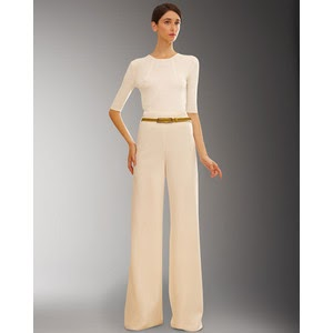 A Small Thing But My Own Wishlist Cream Wool Wide Leg Pants