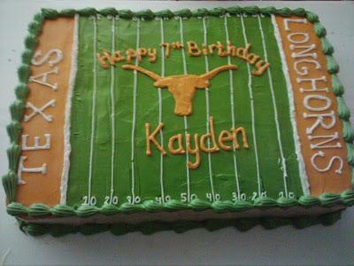 Longhorn Baby Shower Cake