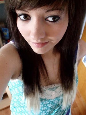 emo hairstyles long hair. Long Hair with Side Swept Bangs Emo Hairstyles