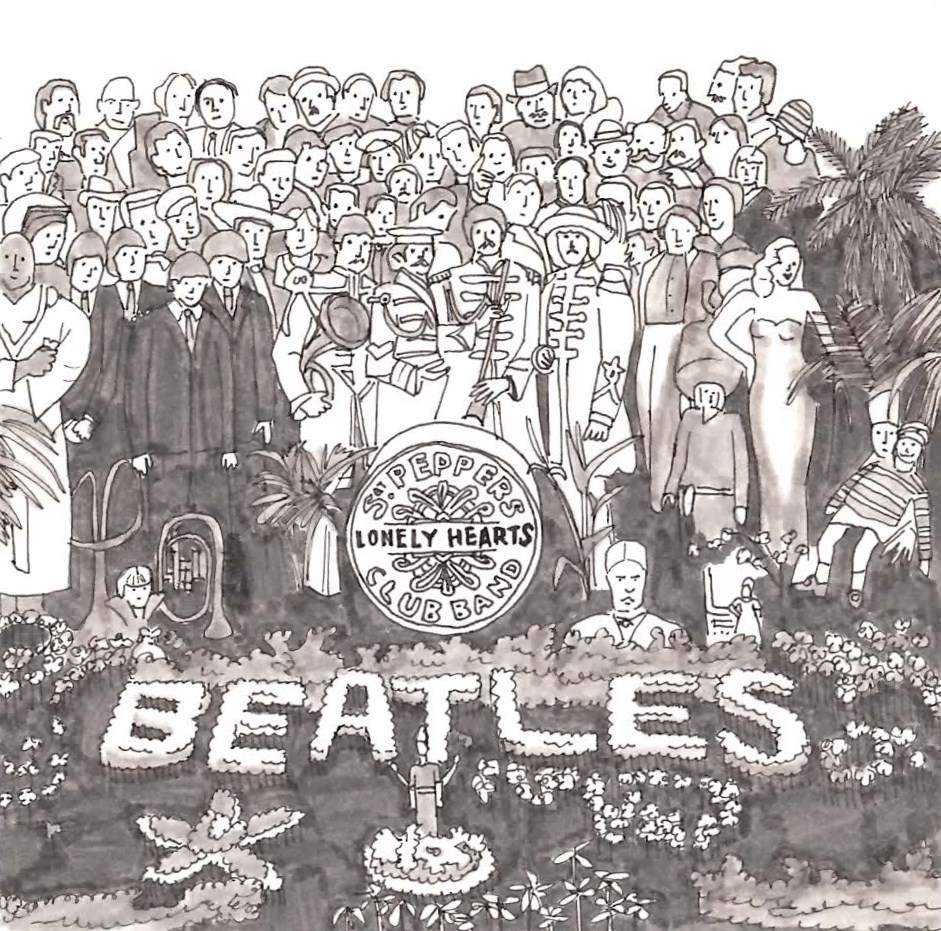 Sargent Peppers Lonely Heart Club Band Cover Coloring Page