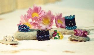 beaded rings, DIY beading, DIY beading project, DIY rings, beaded jewellery, DIY jewellery