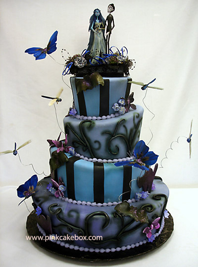 Butterfly Cake Toppers  Wedding Cakes on Show Us Some Beautiful Wedding Cakes