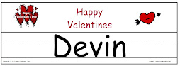 Valentine Name Template