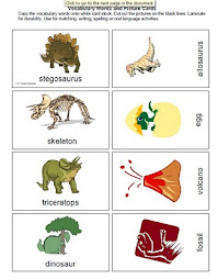 Dinosaur Vocabulary Words