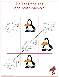 Tic Tac Arctic Animals Game
